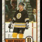 BOSTON BRUINS ANDY BRICKLEY ROOKIE CARD RC 1989 OPC O PEE CHEE # 29
