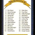 1986 LEAF DIAMOND KINGS CHECKLIST UNMARKED