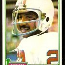 NEW ENGLAND PATRIOTS CHUCK FOREMAN 1981 TOPPS # 119