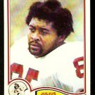 NEW ENGLAND PATRIOTS JULIUS ADAMS 1982 TOPPS # 142