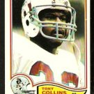 NEW ENGLAND PATRIOTS TONY COLLINS 1982 TOPPS # 146