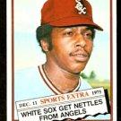 CHICAGO WHITE SOX MORRIS NETTLES 1976 TOPPS TRADED # 434T VG/EX