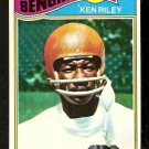 CINCINNATI BENGALS KEN RILEY 1977 TOPPS # 365 VG