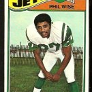 NEW YORK JETS PHIL WISE 1977 TOPPS # 377 G/VG