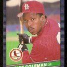 ST LOUIS CARDINALS VINCE COLEMAN 1986 LEAF # 115