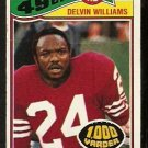 SAN FRANCISCO FORTY NINERS DELVIN WILLIAMS 1977 TOPPS # 425 G/VG
