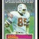 NEW ENGLAND PATRIOTS JULIUS ADAMS 1983 TOPPS # 325
