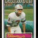 NEW ENGLAND PATRIOTS RICH CAMARILLO 1983 TOPPS # 327