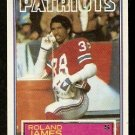 NEW ENGLAND PATRIOTS ROLAND JAMES 1983 TOPPS # 333