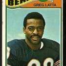 CHICAGO BEARS GREG LATTA 1977 TOPPS # 439 good