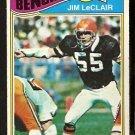CINCINNATI BENGALS JIM LeCLAIR 1977 TOPPS # 449 EX
