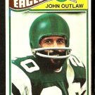 PHILADELPHIA EAGLES JOHN OUTLAW 1977 TOPPS # 466 VG