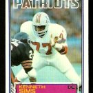NEW ENGLAND PATRIOTS KENNETH SIMS 1983 TOPPS # 336