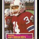 NEW ENGLAND PATRIOTS MARK van EEGHEN 1983 TOPPS # 337