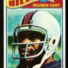 BUFFALO BILLS REUBEN GANT ROOKIE CARD RC 1977 TOPPS # 489 VG