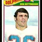MIAMI DOLPHINS DON NOTTINGHAM 1977 TOPPS # 492 EX/EM