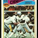 AFC CHAMPIONSHIP GAME OAKLAND RAIDERS PITTSBURGH STEELERS 1977 TOPPS # 526 fair/good