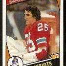 NEW ENGLAND PATRIOTS RICK SANFORD 1984 TOPPS # 141