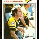 SAN DIEGO PADRES DOUG RADER 1977 TOPPS # 9 VG