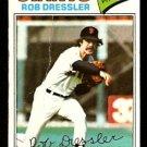SAN FRANCISCO GIANTS ROB DRESSLER 1977 TOPPS # 11 good