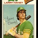 OAKLAND ATHLETICS LARRY HANEY 1977 TOPPS # 12 G/VG