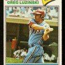 PHILADELPHIA PHILLIES GREG LUZINSKI 1977 TOPPS # 30 good