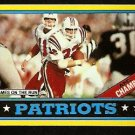 NEW ENGLAND PATRIOTS CRAIG JAMES ON THE RUN 1986 TOPPS # 29