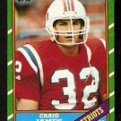 NEW ENGLAND PATRIOTS CRAIG JAMES 1986 TOPPS # 32