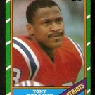 NEW ENGLAND PATRIOTS TONY COLLINS 1986 TOPPS # 33