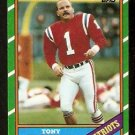NEW ENGLAND PATRIOTS TONY FRANKLIN 1986 TOPPS # 37
