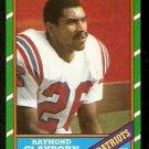 NEW ENGLAND PATRIOTS RAYMOND CLAYBORN 1986 TOPPS # 41