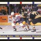 BOSTON BRUINS CONFERENCE CHAMPS RAY BOURQUE 1990 SCORE # 368