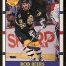 BOSTON BRUINS BOB BEERS ROOKIE CARD RC 1990 SCORE # 385