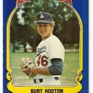 LOS ANGELES DODGERS BURT HOOTON 1981 FLEER STAR STICKER CARD # 61