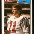 NEW ENGLAND PATRIOTS TONY EASON 1987 TOPPS # 97