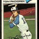 ATLANTA BRAVES TOM PACIOREK 1977 TOPPS # 48 VG