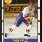BOSTON BRUINS WES WALZ ROOKIE CARD RC 1990 SCORE # 418