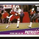 NEW ENGLAND PATRIOTS IRVING FRYAR 1 ON 1 1988 TOPPS # 175