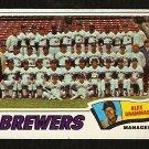 MILWAUKEE BREWERS TEAM CARD 1977 TOPPS # 51 good