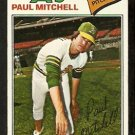 OAKLAND ATHLETICS PAUL MITCHELL 1977 TOPPS # 53 VG