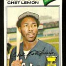 CHICAGO WHITE SOX CHET LEMON 1977 TOPPS # 58 VG