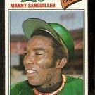 OAKLAND ATHLETICS MANNY SANGUILLEN 1977 TOPPS # 61 VG