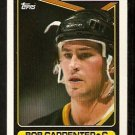 BOSTON BRUINS BOB CARPENTER 1990 TOPPS # 139