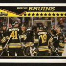 Boston Bruins Ray Bourque Celebrate A Win 1990 Topps Hockey Card # 165