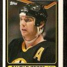 Boston Bruins Randy Burridge 1990 Topps Hockey Card # 190