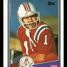 New England Patriots Tony Franklin 1988 Topps Football Card # 183
