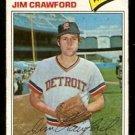 DETROIT TIGERS JIM CRAWFORD 1977 TOPPS # 69 good