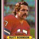 Denver Broncos Matt Robinson 1980 Topps Football Card # 12 em/nm
