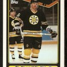 Boston Bruins Glen Wesley 1990 Topps Hockey Card # 379