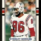 New England Patriots Stanley Morgan 1989 Topps Football Card 199